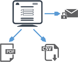 Export to PDF CSV or Secure Message